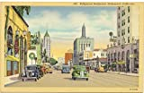 1940s Vintage Postcard Hollywood Boulevard Hollywood California