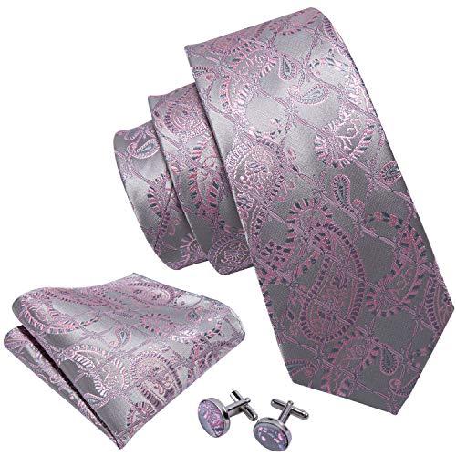 Necktie Silver Grey Necktie - 7