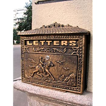 Hunter Cast Iron Vintage Colonial Style Mailboxes Antique