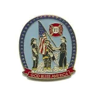 FD bomberos Fire Department Estados Unidos botones metálicos pines 196 pin Badge