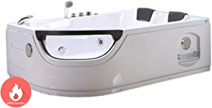 Whirlpool bathtub hydrotherapy hot tub ELITE double pump with heater 2 persons