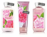 Bath & Body Works Peony Body Cream, Shower Gel and Body Lotion Gift Set