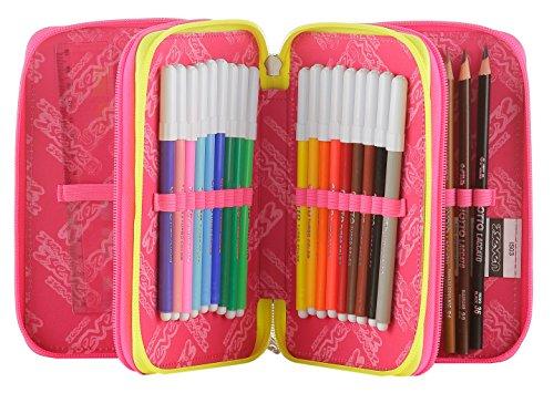 Estuche 3 Cremalleras Seven , Love Letter , Azul Multicolor , Pisos con Contenido: Lápices, Rotuladores ...: Amazon.es: Equipaje