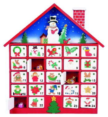 Premier Decoration Wooden Advent House, 40 cm Premier Decorations Ltd MO04676