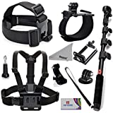 Deyard ZG-634 GoPro Accessories Kit Premium Set for GoPro Hero5 Session Hero Session Hero 5 4 Silver Black Hero 3+ 3 2 SJ4000 SJ5000+: Head Strap Mount +Chest Harness with J-hook Mount +Wrist Mount +Extendable Handheld Monopod with Tripod Mount +Flexible Phone Clamp +Thumbscrew +Deyard Fiber Cloth