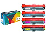 Do it Wiser Compatible Toner Cartridge for Brother HL-3140CW HL-3170CDW MFC-9130CW MFC-9330CDW MFC-9340CDW - TN-221BK TN-225C TN-225M TN-225Y - 4-Pack