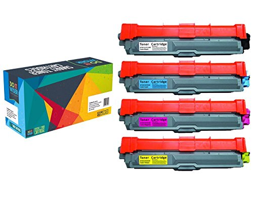 Do it Wiser Compatible Toner Cartridge for Brother HL-3140CW HL-3170CDW MFC-9130CW MFC-9330CDW MFC-9340CDW - TN-221BK TN-225C TN-225M TN-225Y - 4-Pack