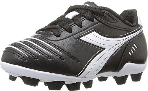 Diadora Kids' Cattura MD Jr Soccer Shoe, Black/White, 1 M US Big Kid