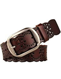 JasGood Fashion Women's Genuine Leather Waist Belt With Alloy Buckle