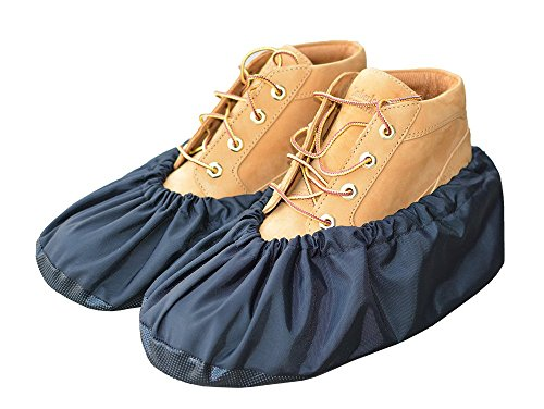 MyShoeCovers Premium Reusable Shoe and Boot Covers for Contractors - Pair | Black - Large