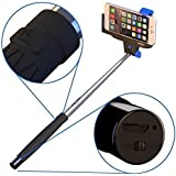 Selfie Stick For iPhone,Android STICKITPRO,Self Portrait Monopod With Built-in Bluetooth For iPhone 6,6S,5s 5c 5 4s 4 ,Samsung Galaxy