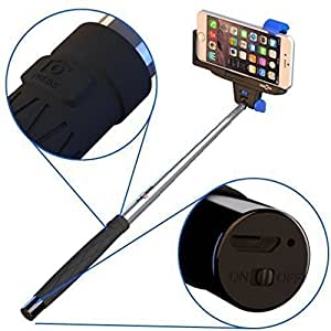 selfie stick for iphone android stickitpro with built in bluetooth and remote. Black Bedroom Furniture Sets. Home Design Ideas