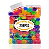 AINOLWAY Large Water Beads 250pcs, Growing Gel Balls Jelly Crystal Soil For Kids Tactile Toy and Vase Fillers ( 7.5oz Pack )