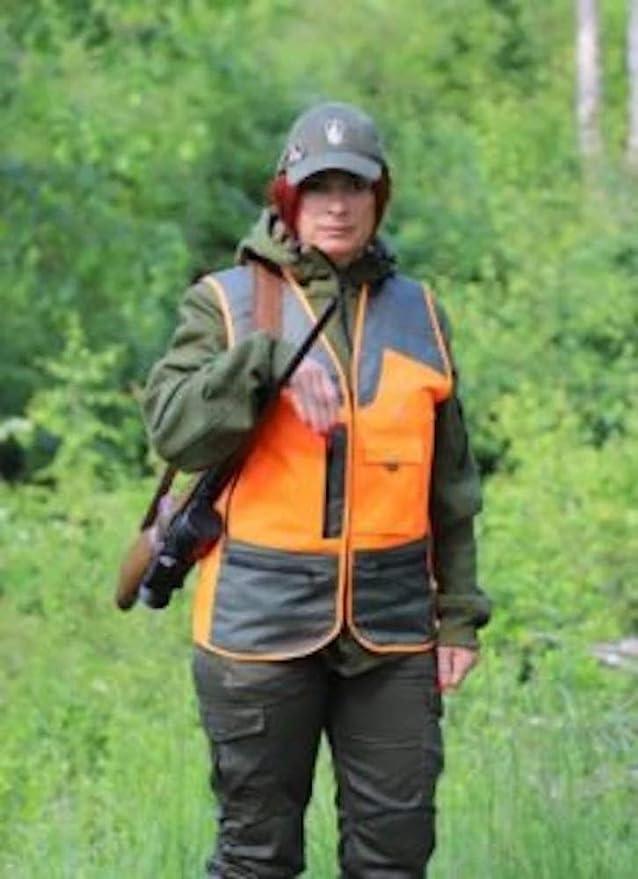 Konustex Chaleco de caza GAMETOP naranja resistente al agua #289