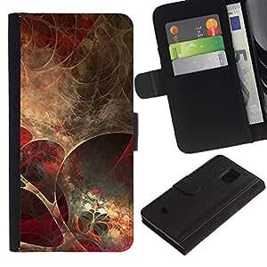 KLONGSHOP / Tirón de la caja Cartera de cuero con ranuras para tarjetas - Anatomy Spider Web Modern Art Wallpaper - Samsung Galaxy S5 Mini, SM-G800, NOT S5 REGULAR!