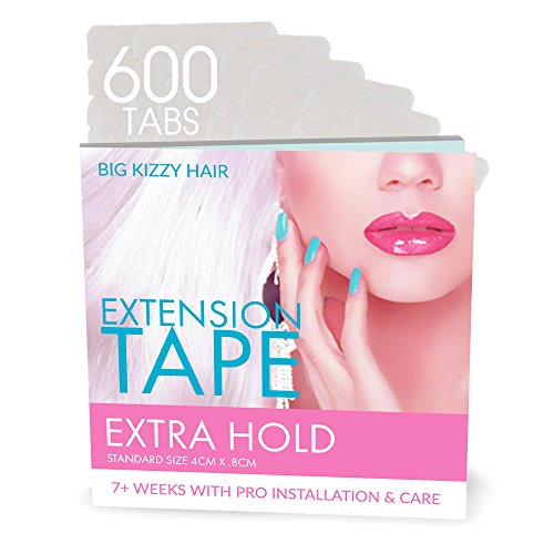 Hair Extensions Tape EXTRA Hold Compatible with Hot Heads, Hairdreams, Babe & Most Other Brands, 4cm x .8cm Hair Extension Tape, Professional Double Sided Extension Tape Review
