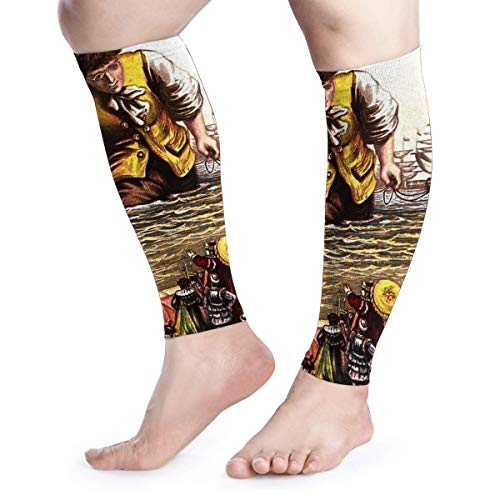 Millezheng Calf Compression Sleeve Leg Gulliver's Travels 1 Pair Printing Pattern Perfect Option To Our Compression Socks - For Running/Shin Splint/Medical/Travel/Nursing