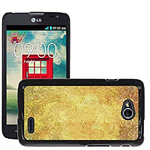 Hot Style Cell Phone PC Hard Case Cover // M00150720 Floral Background Golden Colorful // LG Optimus L70 MS323