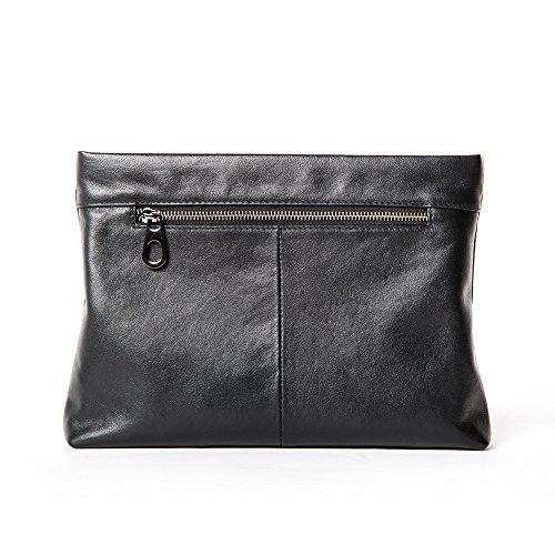 Genuine Leather Envelope Clutch Bag Business Portfolio Briefcase for Men Black by Sturdybags (Image #2)