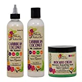 "Alikay Naturals Caribbean Coconut Milk Shampoo + Conditioner + Avocado Cream Moisture Repairing Mask 8oz ""Set"" Review"