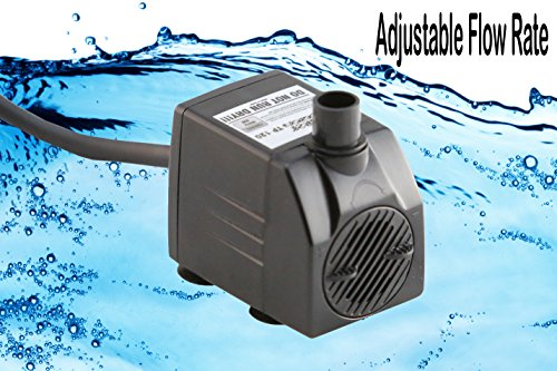 513AsagFWcL - Tiger Pumps 120GPH Submersible Water Pump, Pond Pump, Aquarium Pump, Fish Tank Pump, Fountain Pump With 120 GPH Pump Excellent Powerheads For Aquariums Hydroponics Air Pump With 5 Feet Power Cord