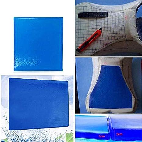 Monland Motorcycle Seat Gel Pad Comfortable Soft Cushion Shock Absorption Mat Blue Motorcycle Seat Cushion Absorption Mats New(25X25X2Cm)