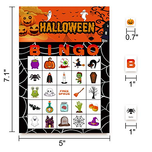 Halloween Games Bingo Cards for Kids Party Supplies 24players by jollylife (Image #3)