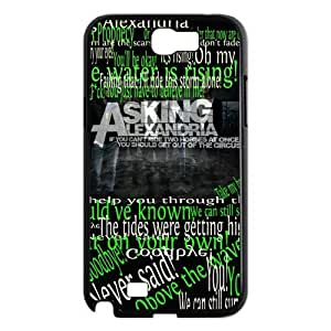 CTSLR Band Asking Alexandria Protective Hard Case Cover Skin for Samsung Galaxy Note 2 N7100-1 Pack- 2