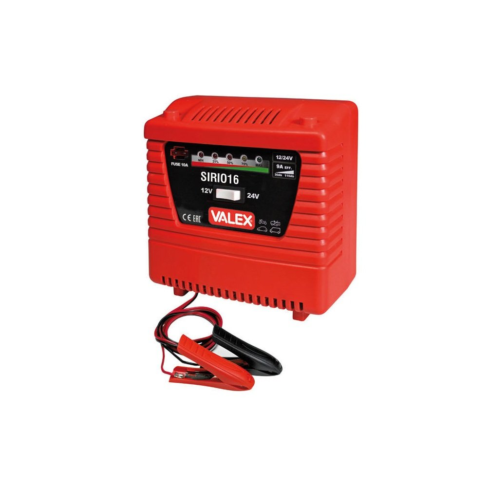 Valex sirio16 Cargador Coche tensión 12 - 24 V corriente 3 - 6 A ...