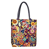 Sangra Fashion Canvas Tote Bag for Women (Multi-Color)
