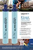 LifeStraw Personal Water Filter for Hiking Camping Travel & Emergency Preparedness (Pack of 2)