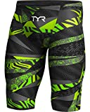 TYR APMH6A Men's Avictor Prelude High Jammer, Black/Green - 28