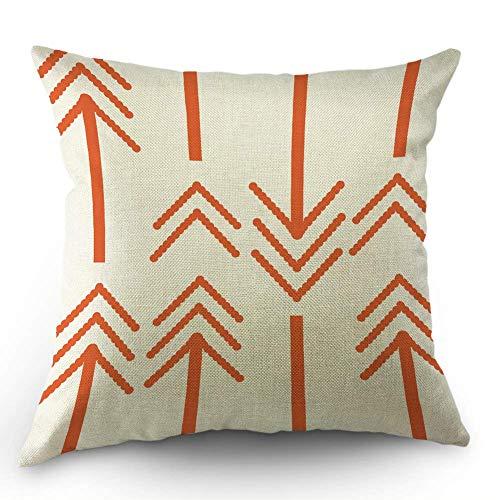HL HLPPC Arrows Throw Pillow Case Retro Orange Bold Arrows C