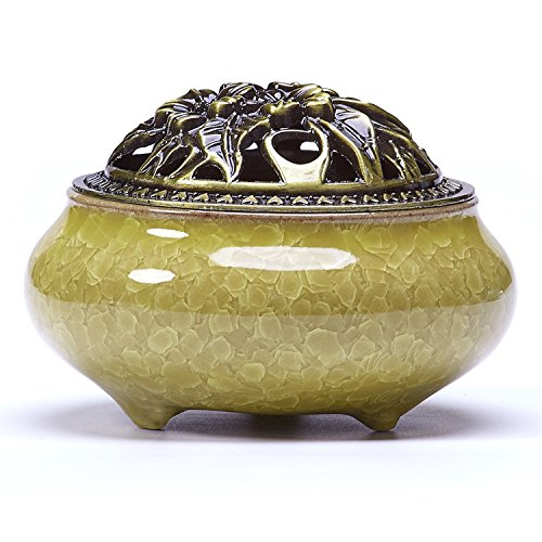 (UOON Cone Incense Burner Holder with Ash Catcher (Stick/Cone/Coil Incense))