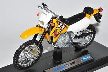 Suzuki DR Z400S Gelb Enduro 1 18 Welly Modell Motorrad Mit Individiuellem Wunschkennzeichen