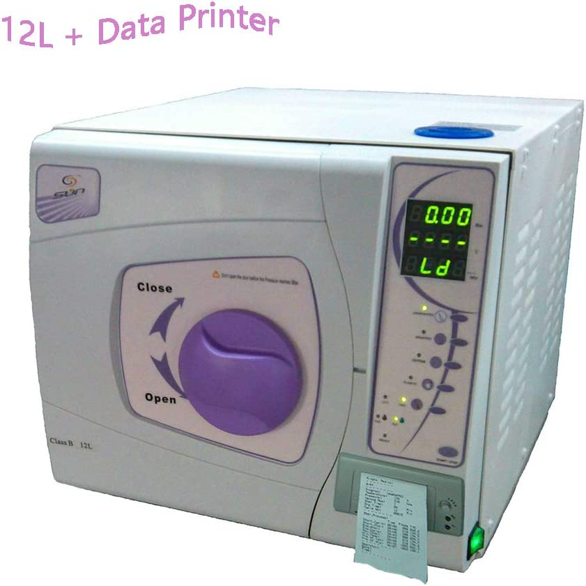 Purple Pandalives Dental Medical Steam Sterilizer with Data Printer Autoclave Dentist Lab Equipment 12 Liters Ce Certification with Sterilizing Trays