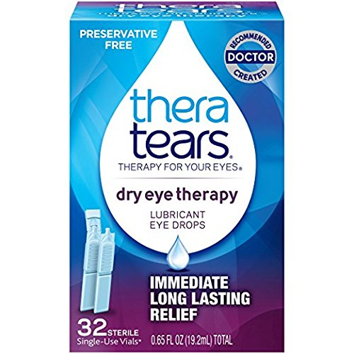 TheraTears Dry Eye Therapy- Lubricant Eye Drops- Preservative Free- 32 CT (2 packs)