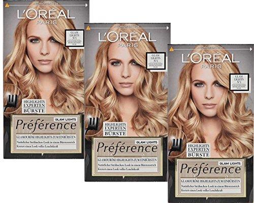L'Oreal Préférence Brush-On Glam Hair Highlights Kit, No.1, 138ml, 3...