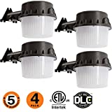 LED Yard Light for Area Lighting 35W Dusk-to-Dawn,LED Outdoor Barn Light, (250-350W) Equivalent, 5000K Daylight, LED Floodlight, ETL-Listed,Wet Location Photocell Included 50K 4pack Review