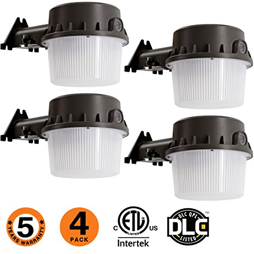 (LED Yard Light for Area Lighting 35W Dusk-to-Dawn,LED Outdoor Barn Light, (250-350W) Equivalent, 5000K Daylight, LED Floodlight, ETL-Listed,Wet Location Photocell Included 50K 4pack)