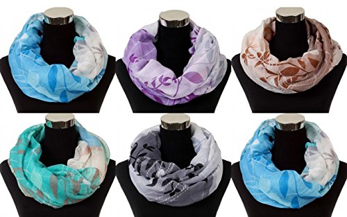 yummy-shelf-lightweight-leaf-print-ombre-infinity-scarf-pack-of-6