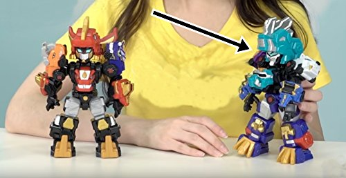 """DinoCore Season 3 Mini Ultra D Saber, 8"""" (20cm) Core Switchable Toy Robot with 14 Moving Joints"""
