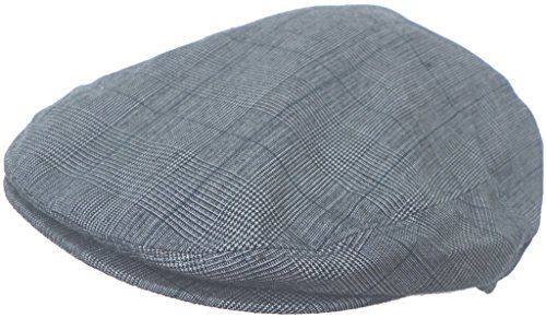 Summer Plaid Ivy Scally Driver Cap Polyester Flat Hat (Scally Flat)