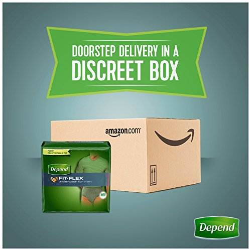 Depend FIT-FLEX Incontinence Underwear for Men, Maximum Absorbency, S/M, Gray, 60 Count by Depend (Image #10)