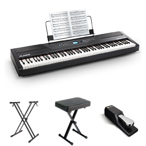 Alesis Recital Pro 88-Key Digital Piano with Padded Seat, Stand, and Sustain Pedal by Alesis