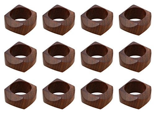 ARN Craft Handmade Wedding Party Decorations Wood Napkin Rings Set of 12 for Dinner Ideas (CW- 09-12) by ARN Craft