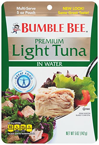 Bumble Bee Premium Light Tuna In Water, 5 Ounce (Pack of 12) ()