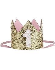 Hocaies neue Fashion Lovely Blume Krone Elastic Mädchen Headbands Baby Girl Pearl Krone Haarreifen Babyschmuck (09)