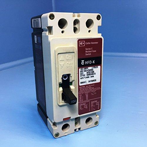 CH Cutler-Hammer HFD2100K 100A Molded Case Switch 600V HFD-K 2 Pole 100 Amp