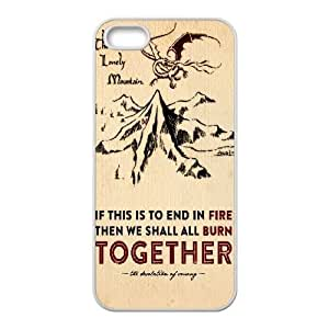 Iphone 5,5S 2D Customized Hard Back Durable Phone Case with The Hobbit Image